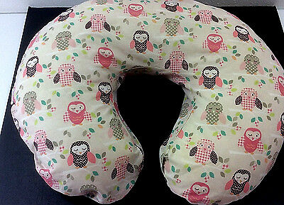 Boppy Brest Feeding Pillow Removable Cover  Birds Baby Girl Pastel