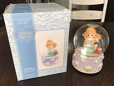 Precious Moments Disney Ariel Musical Water Globe (2007) NIB