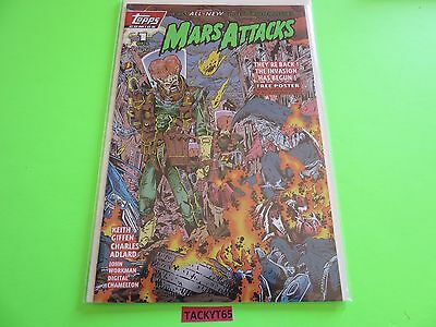 Mars Attacks Issue #1A Topps Comics