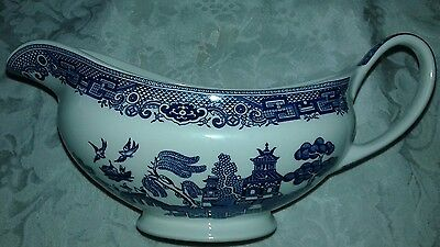 Vintage Blue Willow Creamer Made in England