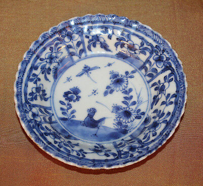 Antique Chinese Blue And White Porcelain Plate Kangxi