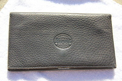 Genuine Leather Roots Wallet Credit Card Check Coin Holder Made In Canada Brown