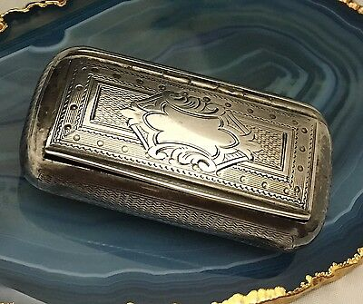 Adolphe Frontin PARIS c1870 Sterling Silver Guilloche Pipe Tobacco/Snuffbox-L574