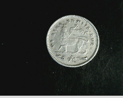 1895 Ethiopa, 1 Gersh,  Medium  Grade, .0377 oz Silver (US-3985)