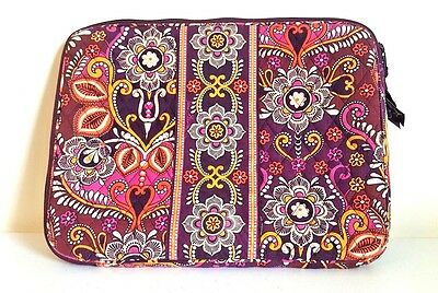 "Vera Bradley Laptop Sleeve Fits Up to 13"" Laptops or Macs Excellent Condition"