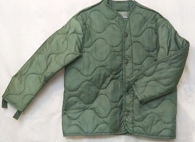 US Army Military M65 Field Jacket Quilted OD Green Coat Liner M-65 MEDIUM-LARGE