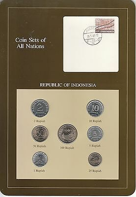 Coins of All Nations Set - Indonesia - 7 Coins 1970-79