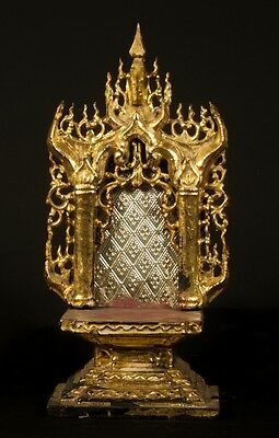 Late 19th century Antique Burmese Throne from Burma | Antique Buddha Statues