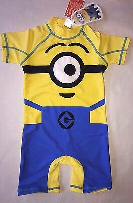 BNWT Next Minions UV 50 Sunsuit Swimwear Boys Sunsafe Child SPF Toddler Minion