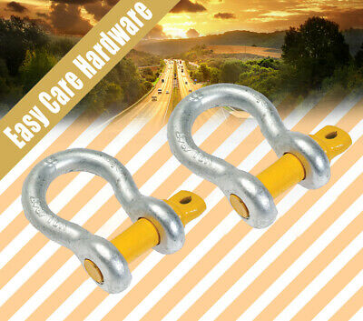 """D Bow shackle BL Rated 5/16 3/8 7/16 1/2 5/8 3/4 7/8 """" 8 10 11 13 16 19 22mm New"""