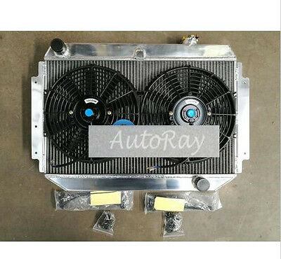 3Row Alloy Radiator&Fan HOLDEN Kingswood HQ HJ HX HZ V8 308 253 350 Chev eng MT