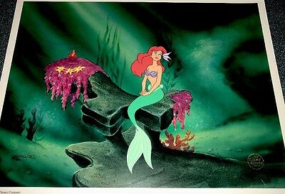 Disney The Little Mermaid Cel Under The Sea Ariel Rare Publishers Proof cell