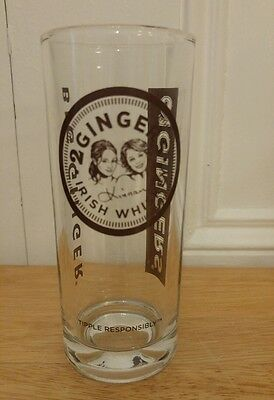 "2 Gingers Irish Whiskey 6"" Hi Ball Glass Brown Barware Mancave"