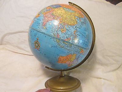 vintage world globe Crams Imperial World Globe with metal stand