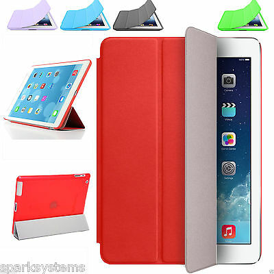 Smart Cover Case Magnetic Sleep/Wake Stand Leather For Apple iPad, Air Mini, A