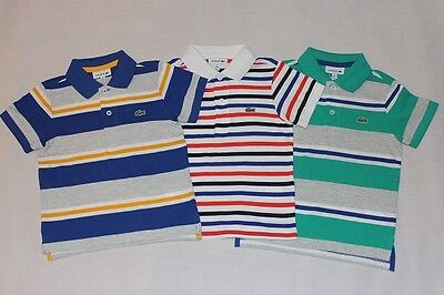 BRAND NEW AUTHENTIC LACOSTE BOYS STRIPE SHIRTS (shirts smaller) SZ 4.6.8.10.12