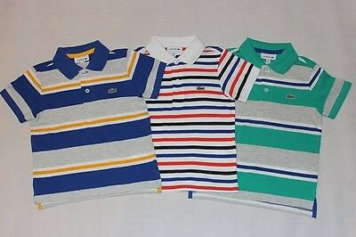 Brand New Authentic Lacoste Boys Stripe Shirts Size 4.6.8.10.12