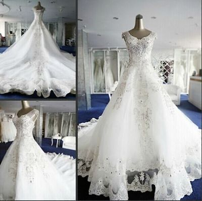New white/ivory wedding dress bridal gown custom size 2 4 6 8 10 12 14 16 18+
