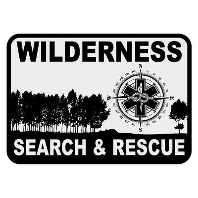Wilderness Search & Rescue Small Reflective Decal Sticker Firefighter Rescue