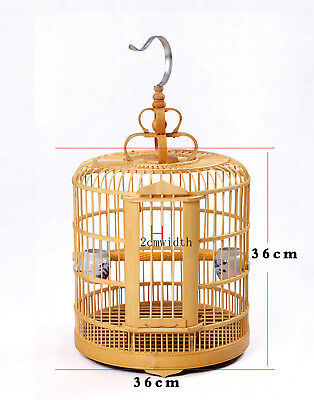 Vintage Wood Bamboo  Pagoda Style Bird Cage Matchstick