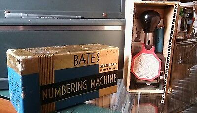 Vintage Bates Lever Movement Numbering Machine Wheel 6 Style E  EXCELLENT WORKS