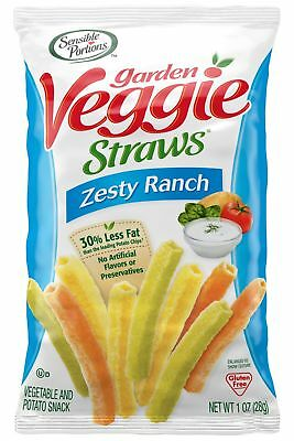 Sensible Portions Garden Veggie Straws Zesty Ranch 1 Ounce (Pack of 24)