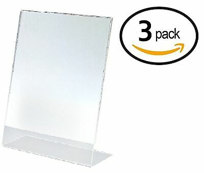 T'z Tagz Brand 8.5 X 11 Inches Plexi Acrylic Sign Holder 3 PACK!!! - Single S...