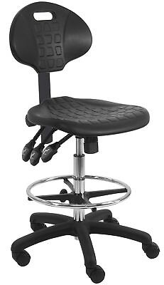 BenchPro LNT-UC-3L Deluxe Polyurethane HD Cleanroom Lab Chair/Workbench Stool...