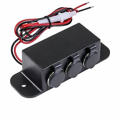 Automotive DC Power Outlet Extension w/On-Off Switch [Heavy Duty] [12V-24V] [...