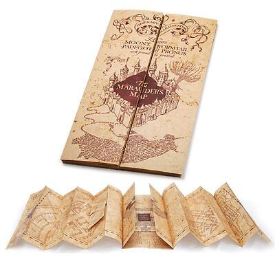 Harry Potter Marauders Map Replica Printed Movie Collectible By Noble Collection