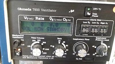 Ohmeda 7800 Anesthesia Ventilator as pictured working in nice condition