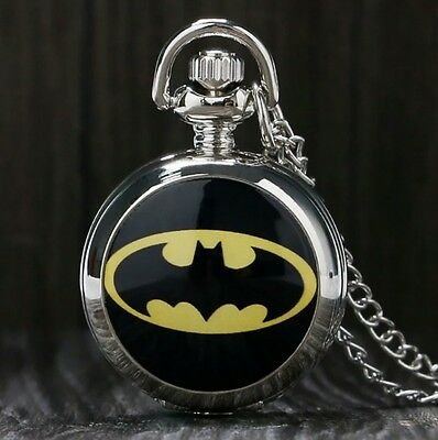Brand New Batman Quartz Watch Necklace with Chain