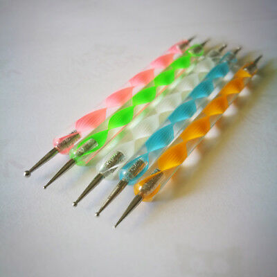 Lot 5 Pinceaux Dotting - Manucure Nail art Ongle