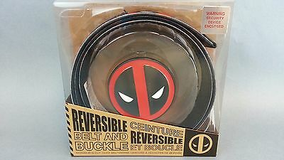 NEW Deadpool X-Men Superhero mens Metal Belt & Buckle Costume Cosplay Bioworld