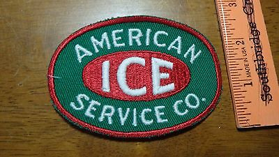 Vintage American Ice Service Co Patch 1960's  Utilities Fuel Coal  Bx G #17