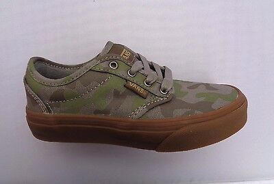 aad80bea3a Vans Atwood Youth Boy girl (Camo) Brushed Nickel gum Trainer Skate Shoe