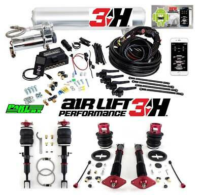 BMW E46 Air Lift 3H 3/8″ Management + Performance Air Ride Suspension Bags Kit