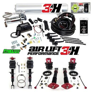 BMW E46 Air Lift 3H 1/4″ Management + Performance Air Ride Suspension Bags Kit