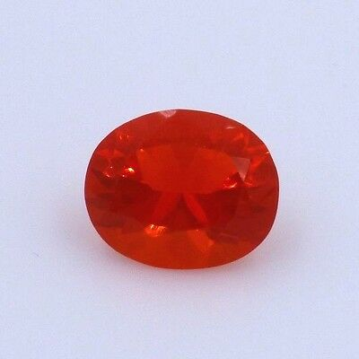 Bright, Reddish Orange Natural Mexican Fire Opal- 3.2 ct