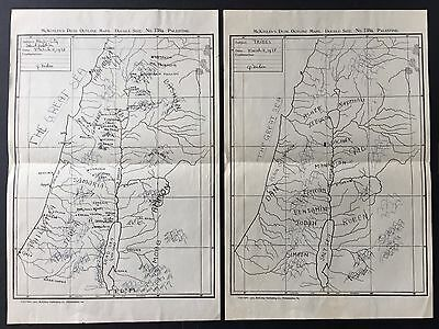 Palestine Maps 1907 With Location Of Ancient Tribes And Identification Of Cities