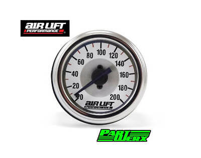 Air Lift Single Needle Gauge- 200 PSI Air Lift Suspension