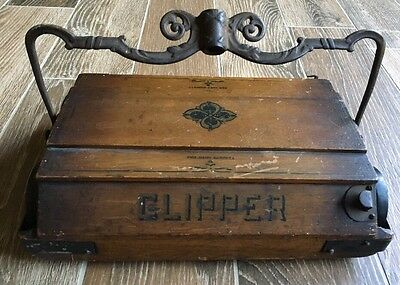 Antique Bissell Clipper Wooden/Cast Iron Vacuum Cleaner