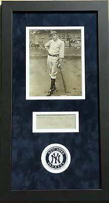 Wally Pipp Autographed RARE Vintage Display & Type 1 Photo NY Yankees JSA Gehrig