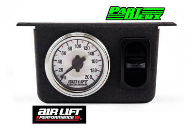 Air Lift Single Needle Gauge Panel with One Paddle Switch 200 PSI Air Ride Parts
