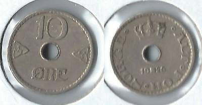 1926 Norway 10 ore coin