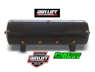 "Air Lift 8.5 Gal Air Tank- 12 1/2"" H x 32 1/2 L with (8) 1/2"" Ports Air Ride"