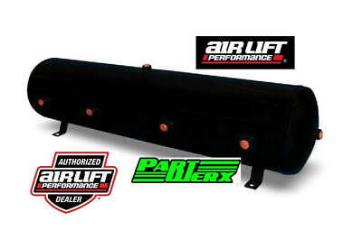 "Air Lift Black Gloss Finish 12 Gal Tank - 12.5"" H x 44"" L with 8 Ports Air Ride"