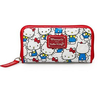 NEW HELLO KITTY  LOUNGEFLY Vintage Print Patent Embossed Wallet (BRAND NEW)