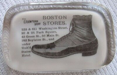 The Crawford Shoe Boston Stores advertising paperweight