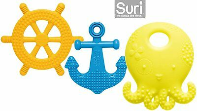Mayapple Baby - Suri the Octopus and Friends Teether - 3 Silicone Teething Toys